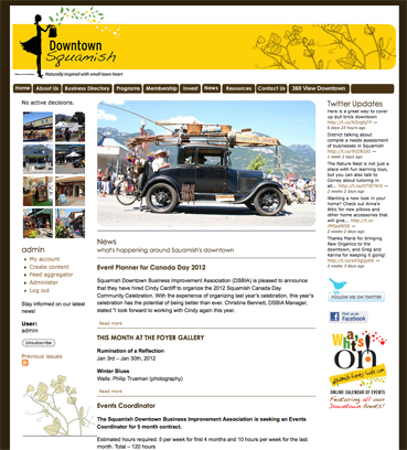 Downtown Squamish BIA – Web Design & CMS Development