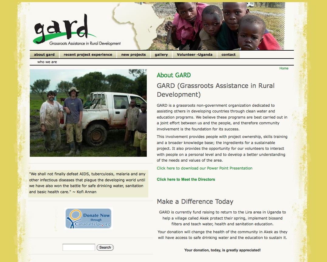 Gard Website Design & Development
