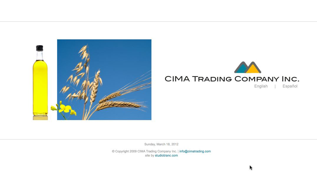 Cima Trading – Web design and development