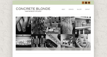 Concrete Blonde – Hair & Body Studio Website