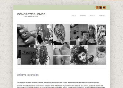 Concrete Blonde Hair Salon